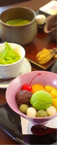 日本茶を楽しむ店「らく寿」
